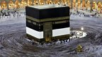 Muslim pilgrims circle the Kaaba
