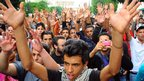 Anti-government demonstration in Tunis, Tunisia - Tuesday 23 October 2012