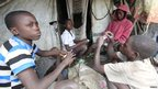 Children playing cards in DR Congo - Wednesday 24 October 2012