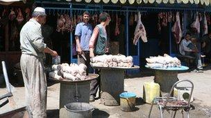 Market in Sangin, Helmand