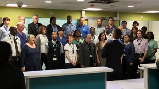 Staff at the opening of the A&E