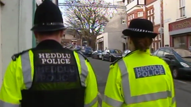 Police officers on the beat in north Wales