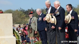 World War II veterans marking El Alamein