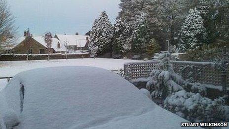 Snow in Esh, County Durham