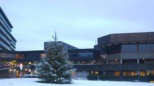 County Hall at Christmas