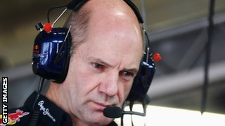 Adrian Newey, chief designer for Red Bull