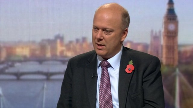 Justice Secretary Chris Grayling