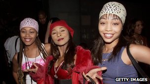 Natina Reed (centre) with the other members of Blaque in 2001