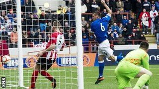 Lee McCulloch scores for Rangers against Clyde