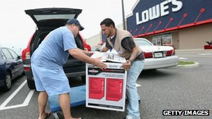 A man buys a generator in New York