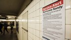 Warning about potential disruption to subway services due to Hurricane Sandy (28/10/12)
