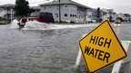 Car goes through high water in Ocean City, Maryland (28/10/12)