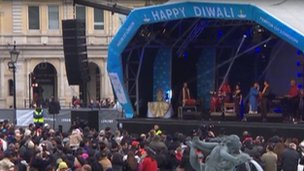 Diwali celebrations in Trafalgar Square