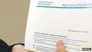 Child benefit letter