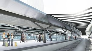 Artist&#039;s impression of the new platforms at London Bridge