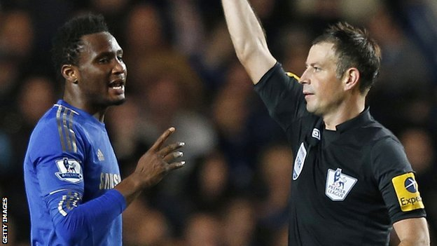 John Mikel Obi and Mark Clattenburg