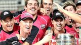 Sydney Sixers with the Champions League T20 trophy