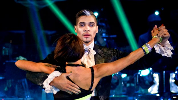 Louis Smith dancing on Strictly Come Dancing