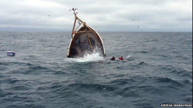 Trawler sinks