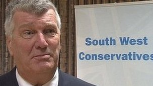 Ken Maddock, former leader of Somerset County Council