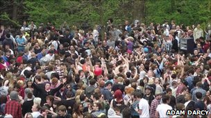 Unofficial party in Kelvingrove Park