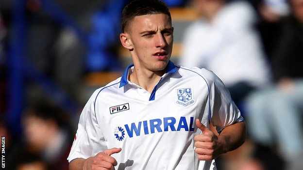 Tranmere Rovers striker Jake Cassidy