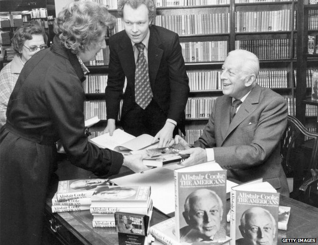 Alistair Cooke at a book signing