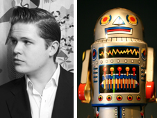 Luke Wright and robot