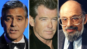 George Clooney, Pierce Brosnan, Allen Ginsberg