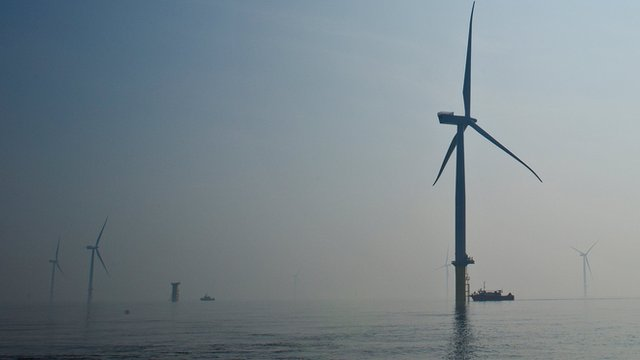 London Array wind turbines