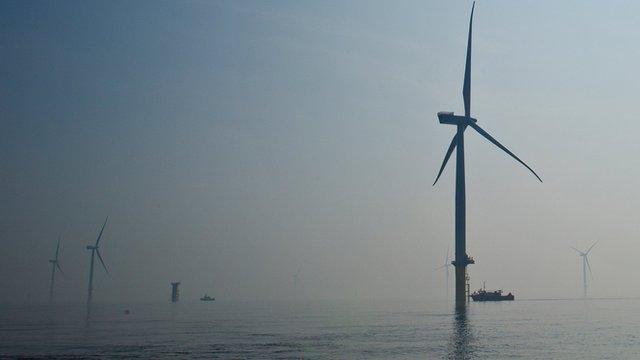 London Array wind turbines