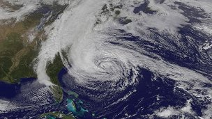 Nasa image of hurricane Sandy