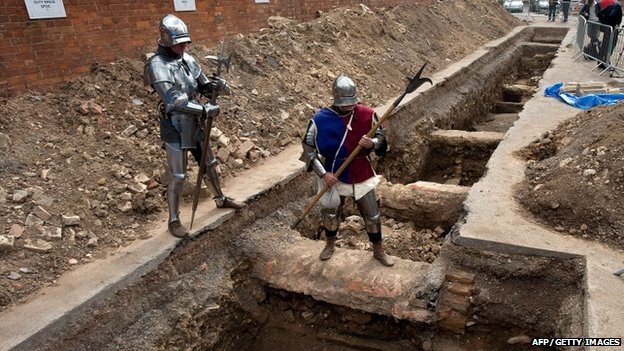 Site in Leicester where possible skeleton of Richard III was found