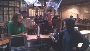 The Cross Keys Squatters at the bar