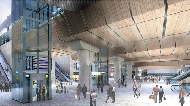 Graphic of new concourse at London Bridge
