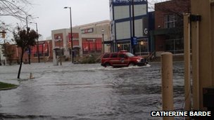 Flooded street, Atlantic City, 29 October 2012, Photo: Catherine Barde