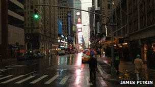 Empty street in New York, 29/10/2012, Photo: James Pitkin
