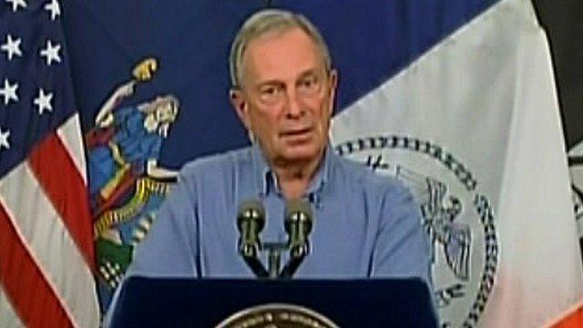 The mayor of New York, Michael Bloomberg