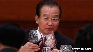 Chinese Prime Minister Wen Jiabao attends the banquet marking China's national day, 29 Sept 2012