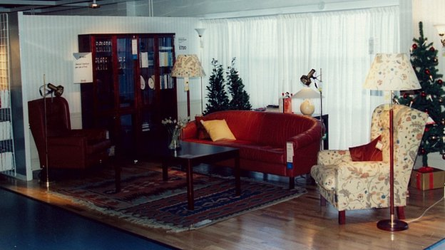 A furniture display inside the Warrington store in 1987