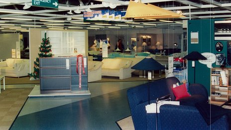 Inside Ikea in 1987