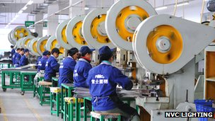 NVC Lighting production line in China