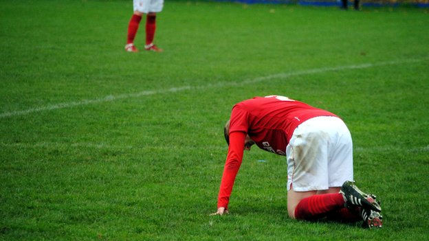 Forest player on the ground