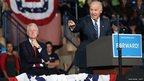 Bill Clinton, left, and Joe Biden