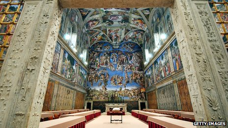 Sistine Chapel, The Last Judgement was painted by Michelangelo between 1536 and 1541.