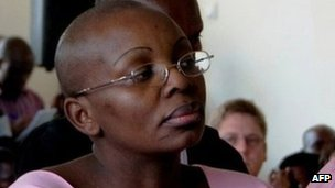 Rwandan opposition leader Victoire Ingabire in court in September 2011
