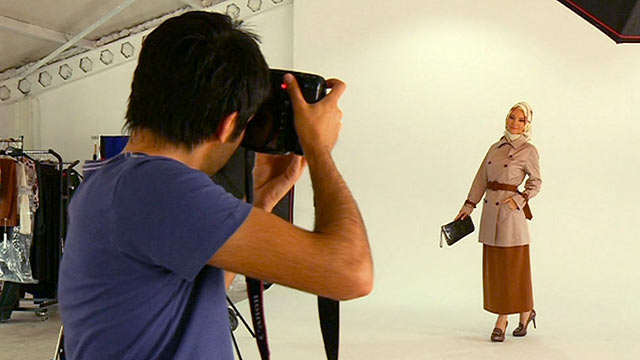 A fashion photo shoot