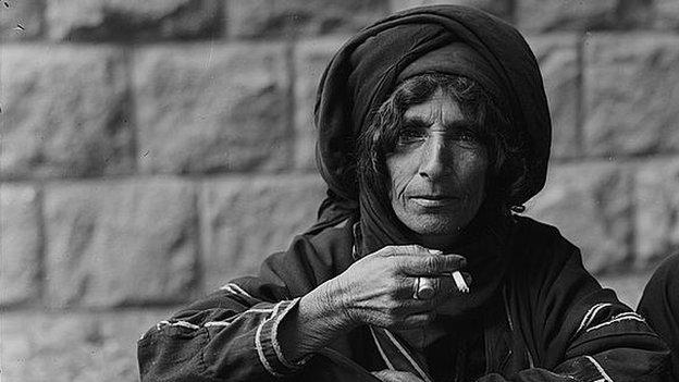 Person with cigarette