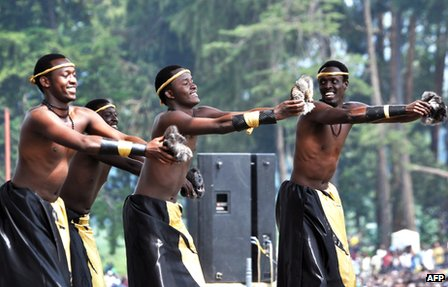 Traditional Rwandan dancers and musicians perform in June 2011 in Kigali