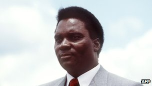 Rwandan President Juvenal Habyarimana in October 1982 in Kigali